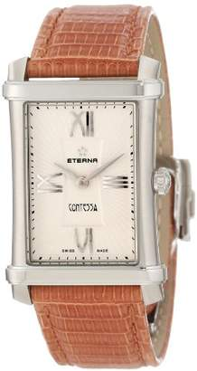 Eterna Watches Women's 'Contessa' Quartz Stainless Steel and Lizard Dress Watch