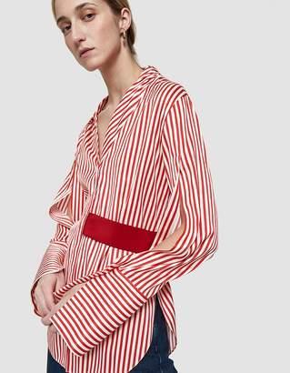 Hellessy Elin Asymmetrical Collar Belted Shirt
