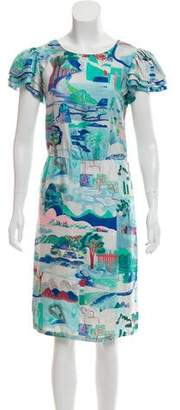 See by Chloe Abstract Print Knee-Length Dress