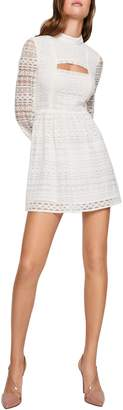 BCBGeneration Peek-A-Boo Long-Sleeve Dress