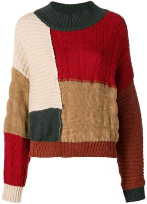 Miaoran colour-block jumper
