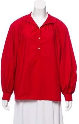 Nili Lotan Long Sleeve Button-Up Top