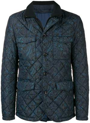 Etro printed quilted jacket