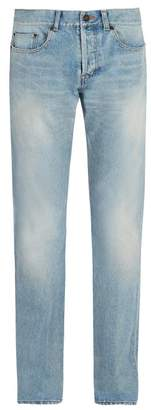 Saint Laurent Mid Rise Slim Leg Jeans - Mens - Blue