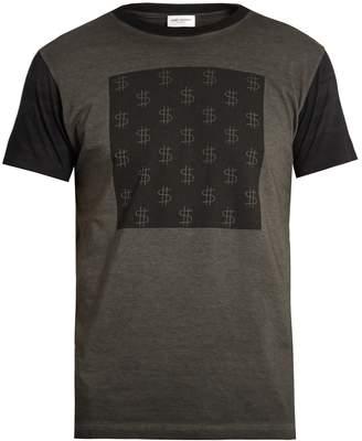 SAINT LAURENT Dollar sign-print T-shirt $590 thestylecure.com