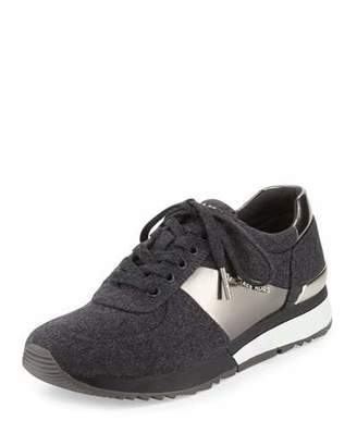 MICHAEL Michael Kors Allie Flannel Trainer Sneaker, Charcoal $135 thestylecure.com