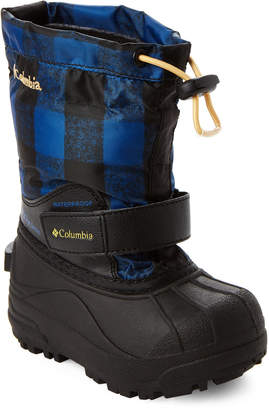 Columbia Toddler Boys) Royal & Golden Nugget Powderbug Forty Print Snow Boots