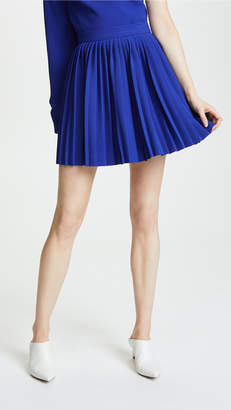 Brandon Maxwell Pleated Miniskirt