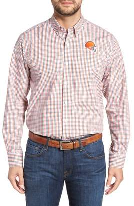 Cutter & Buck Cleveland Browns - Gilman Regular Fit Plaid Sport Shirt