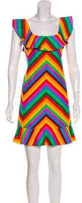 Valentino Rainbow Mini Dress