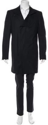 Valentino Checked Wool Overcoat