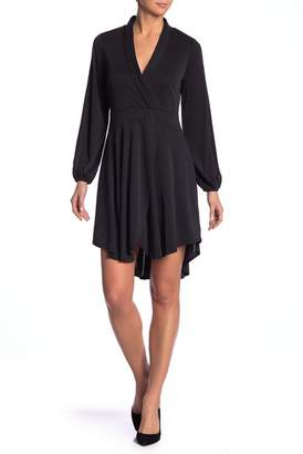 Kensie Mojr Long Sleeve Faux Wrap Dress