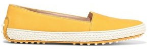 Tod's Gommino Woven-trimmed Nubuck Loafers