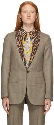 R 13 Tan Shawl Tuxedo Blazer