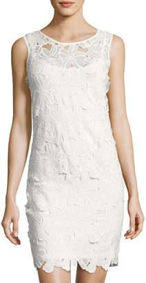 Neiman Marcus Sleeveless Lace Shift Dress, Ivory $65 thestylecure.com