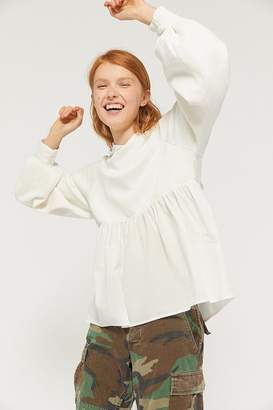 Urban Outfitters Penelope Hooded Peplum Top