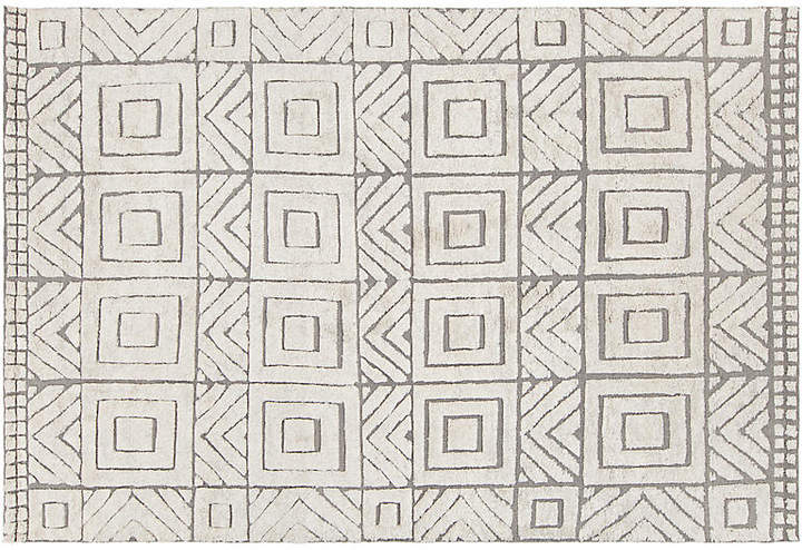 Ardmore Hand-Knotted Rug - White/Gray - 7'75