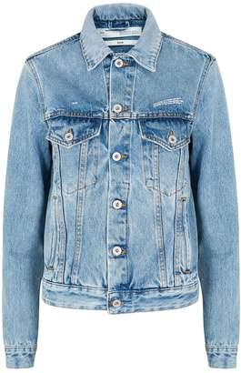 Off-White Off White Diag Blue Denim Jacket
