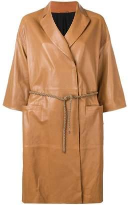 Brunello Cucinelli wrap-around coat