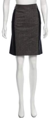 Gucci Knee-Length Tweed Skirt Brown Knee-Length Tweed Skirt