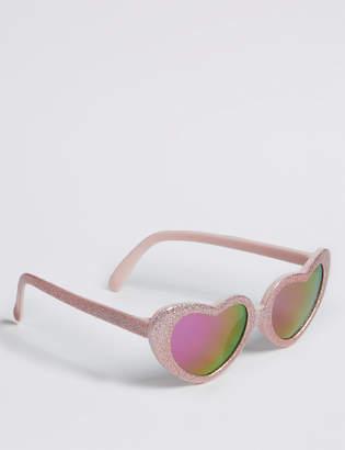 Marks and Spencer Heart Frame Glitter Sunglasses