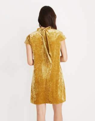 Madewell Crushed Velvet Mockneck Dress