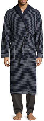 Asstd National Brand Residence Men's Knit Hooded Long Sleeve Robe