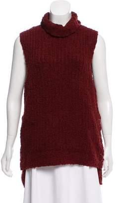 957c64112d399 Women Red Turtleneck Sleeveless - ShopStyle