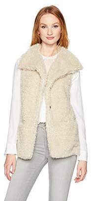 True Grit Dylan by Women's Ultra-Soft Plush Faux Sherpa Long Vest with Pockets