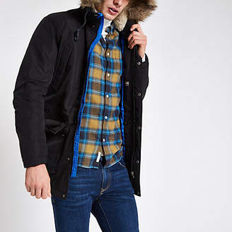River Island Jack and Jones Originals black parka jacket