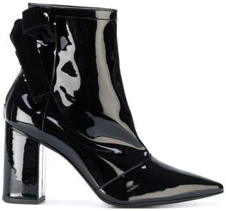 Robert Clergerie x Self Portrait velvet bow ankle boots