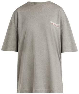 Balenciaga Oversized logo-print stretch cotton-jersey T-shirt