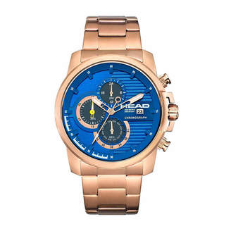 Head Topspin Mens Rose Goldtone Bracelet Watch-He-003-05