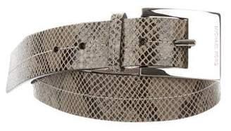 MICHAEL Michael Kors Embossed Leather Belt
