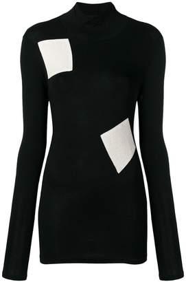 Yohji Yamamoto woven patch jumper
