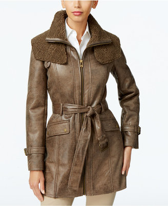 Kenneth Cole Faux-Shearling Trench Coat $250 thestylecure.com