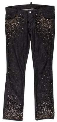 DSQUARED2 Embellished Straight-Leg Jeans