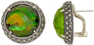 Lavish By Tjm Lavish by TJM Sterling Silver Abalone Doublet & Marcasite Earrings