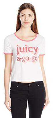 Juicy Couture Black Label Women's Knt Go Go Graphic Tee $9.92 thestylecure.com