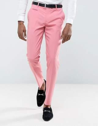 Asos Design Wedding Skinny Smart Pants in Pink