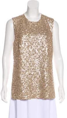 Kaufman Franco KAUFMANFRANCO Sequin Sleeveless Top