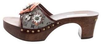 Louis Vuitton Embellished Slide Sandals