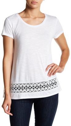 Olivia Sky Crochet Hem Tee $58 thestylecure.com