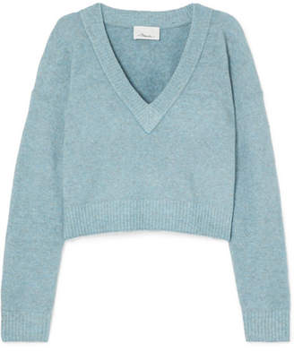 3.1 Phillip Lim Cropped Knitted Sweater - Sky blue