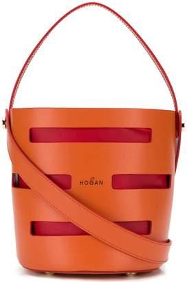Hogan logo bucket bag
