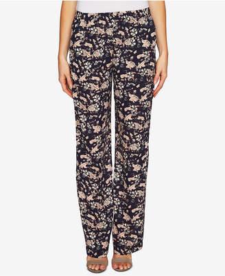 CeCe Floral-Print Soft Pants