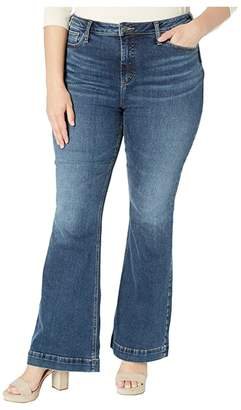 Silver Jeans Co. Plus Size High Note High-Rise Flare Leg Jeans in Indigo
