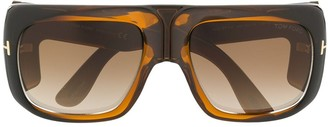 Tom Ford printed oversized sunglasses