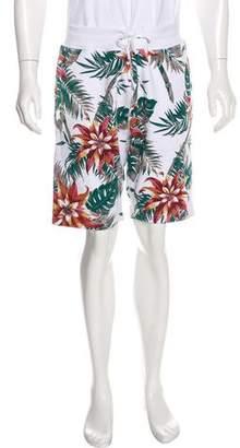 Supreme Floral Print Jogger Shorts