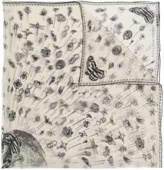 Alexander McQueen skull trinkets print scarf